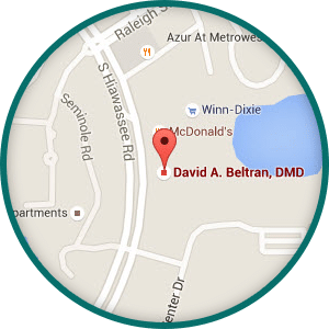 Metrowest Map graphic Beltran Periodontics Orlando FL